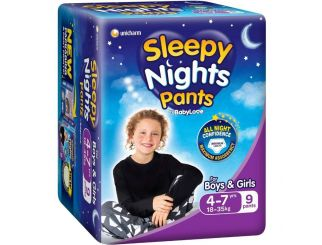 Girls Night Time Nappy Pants - Size 4-7 - 3 Packs of 10