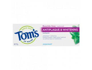 TOM'S Natural Antiplaque & Whitening Toothpaste 113g - Expires 1/1/22