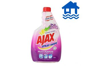 Ajax Spray & Wipe Lavender Refill 750mL Flood Relief