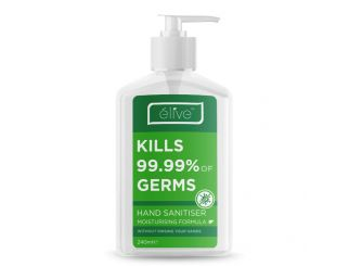Elive Moisturising Hand Sanitiser 240mL C&C Only Expires 29/3/2022