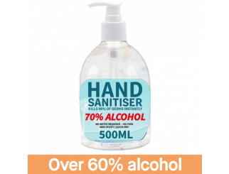 Hand Sanitiser 500ml - 70% Alcohol - C&C Only