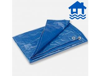Blue Poly Tarps - 12'x18' - 3.5 X 5.5M Flood Relief - C&C Only