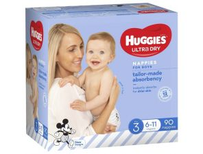 Huggies Tailor-Made Absorbency Nappies for Boys - Size 3