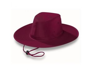 Kid's UV Protective Wide Brim Hats - Maroon
