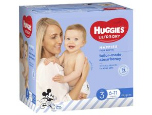 Huggies Ultra Dry Nappies for Boys - Crawler - 6-11kg
