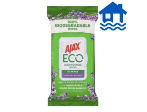 Ajax Antibacterial Cleaning Wipes Lavender 110 Pack Flood Relief