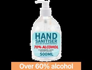 Hand Sanitiser 500ml - 70% Alcohol